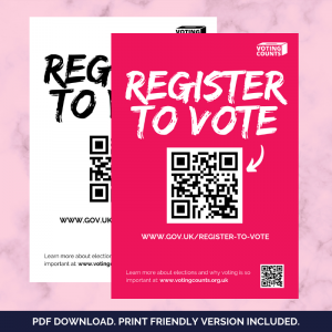 FREE Download - Register To Vote Poster